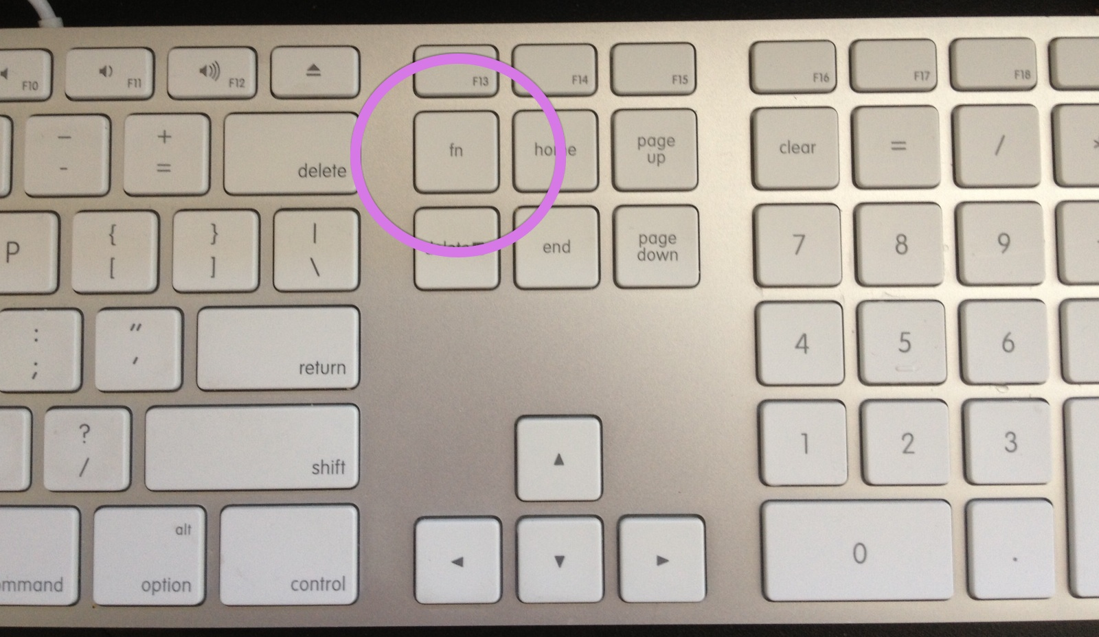 apple keyboard insert key windows 7