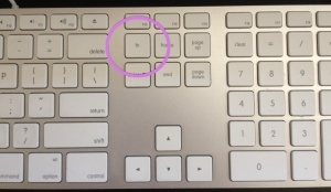 The Fn Key on an Apple Keyboard is next to the home and above the delete key in the area above the arrow keys.